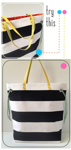 sewing projects, diy bags, stripe tote, sewing tote bag, bag tutorials, baby bags, tote bags, sewing tutorials, diy handbag tutorial