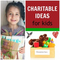 {Charitable Ideas for Kids} Great ideas for reminding kids that the holidays are about both GIVING and receiving