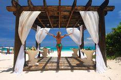 decor, pergola with curtains, beaches, backyard idea, pergolas, dream, outdoor curtains, beach wood, curtains on pergola