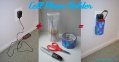 DIY duct tape ideas | ... charging station holder with duct tape and crystal light container