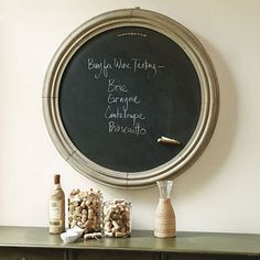 Round Magnetic Chalkboard