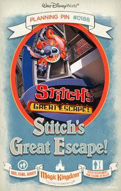 Walt Disney World Planning Pins: Stitch's Great Escape