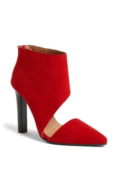 Modern twist on a pointy toe bootie
