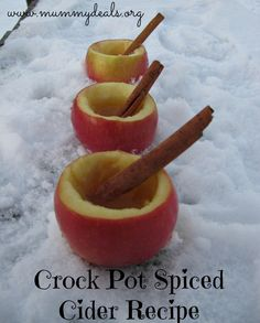 Crock Pot Spiced Cider Recipe from #mummydeals #slowcooker #crockpot #cider
