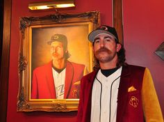 Justin Verlander dressed as Randy Johnson. Fantastic.