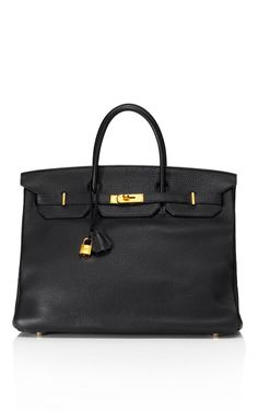 Heritage Timeless Collection: 40cm Black Clemence Leather Birkin