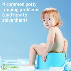 Potty training can be a nightmare, but we have 4 solutions to common problems that might help you keep from pulling your hair out in the process!