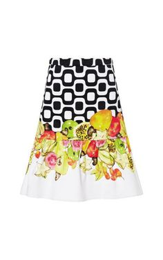 Printed Woven-Cotton Mini Skirt by Isolda Now Available on Moda Operandi