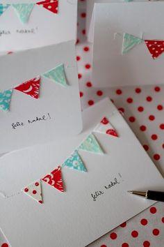 Bunting/pennant card