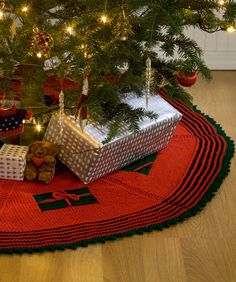 Knit Gifts Around the Tree Skirt