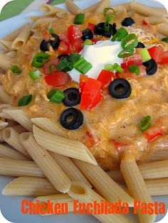 Chicken Enchilada Pasta...mmm.