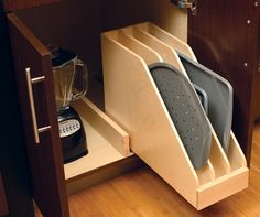 Vertical Tray Storage   Shelterness