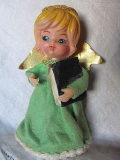 Vintage 1950's60's Angel tree Topper Or by AuntSuesVintage on Etsy, $4.99