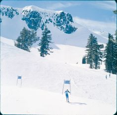 The 1960 Winter Games was the first time an Olympian (Jean Vuarnet) competed on metal skis (pair of Allais 60's). Those new tech skis got him the gold medal in Men's Downhill and afterwards he endorsed a sunglass company that took his name.