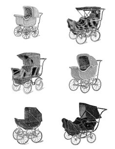 Michele: antique baby buggy clipart