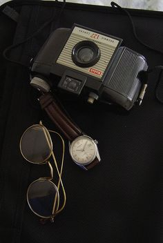 #oldcameras #fathersday I only have three exposures left.  60s and 70s style for men.  Father's Day Gift Ideas.