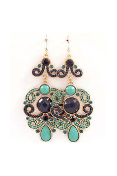Victoria Chandelier Earrings in Alluring Blues.