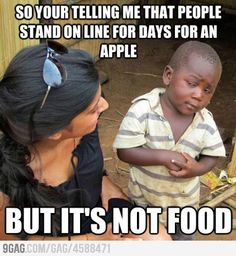3rd world kid doesn't understand Apple