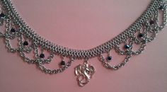 Aluminum Chainmaille necklace Silver plated by ShadowRougeOriginal