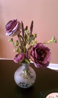 Flower arrangement for our master bedroom.  ... Uploaded with Pinterest Android app. Get it here: http://bit.ly/w38r4m