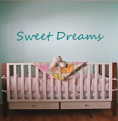 Sweet Dreams Vinyl Lettering Wall Words Decal by OZAVinylGraphics, $18.00