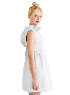 fashion dresses, cloth, style, bridesmaid dresses, camilyn beth, rehearsal dinner dresses, closet, little white dresses, ruffles