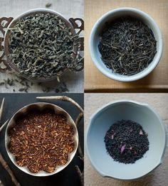 Four Exotic Teas - Chun Mee Green, Rose Congou, Jasmine Pouchon & Mandarin Rooibos