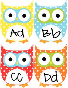 Free owl word wall letters  @Megan Ward Ward Ward Ward Ward howell