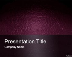 Free Cosmetic PowerPoint Template with violet background