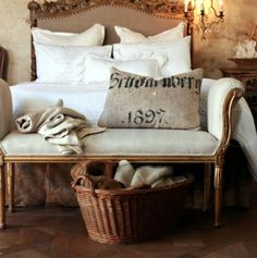 Freshen up for Spring with linens...French  Country Homes