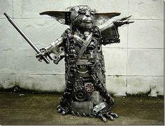 Scrap Metal Yoda - I want one!
