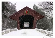 Love covered bridges in the snow!