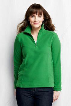 Women's Polartec Aircore 100 Half-zip Pullover from Lands' End- medium- green