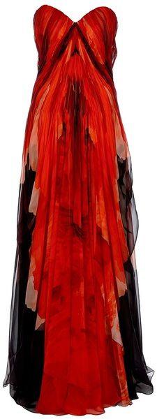 Alexander Mcqueen alexander mcqueen, fashion, red, ball gowns, dream, dresses, bustiers, chiffon, alexand mcqueen