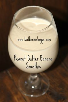 Low Calories Smoothie  http://blog.katherineboggs.com/peanut-butter-banana-smoothie/