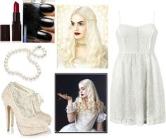 """""""The White Queen from Alice in Wonderland"""" by onedirectionlover99-872 ❤ liked on Polyvore"""