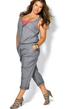 Great jumpsuit presented by Tara.... I wonder if I could pull something like this off.  I really think it's nice and casual.  And, I hate to say it, but I love the shoes.