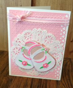 Sweet cricut card, shoes from Kate's ABC cartridge.