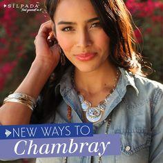 The #chambray shirt: So versatile, just like #Silpada jewels! #WomensFashion