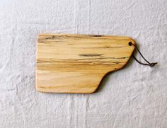 No. 34  Irregular Shaped Solid Spalted Maple Wood Cheese or Cutting Board