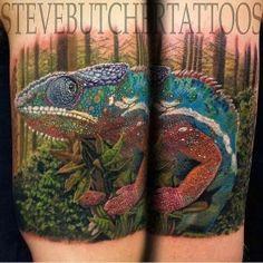 #lizard #tattoo #colorful #realistic #realism #chameleon #tattoo #tattoos #ink