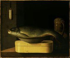 "Pierre Nichon ""Still Life with Carp."" Museum of Fine Arts, Boston."