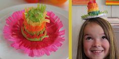Mini cinco de mayo piñata hat.