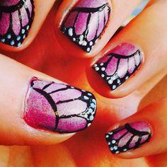 Butterfly nails #nailart