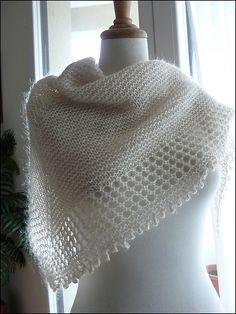 Free Knitting Pattern: Mousseux Shawl by Organdi Bidouille - Very pretty!