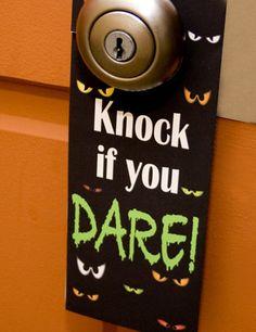 Halloween Door Hanger printable