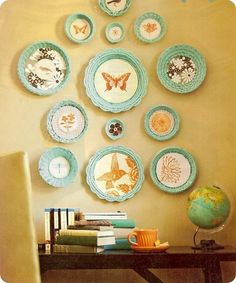adorable DIY art with painted baskets