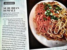 Somali Spaghetti from Tawakal Restaurant in Burnsville, Minnesota via Minneapolis St. Paul Magazine