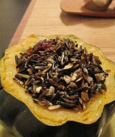 Acorn squash & wild rice, sounds good to us!