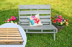 Repurpose wood pallets as outdoor seating. | Photo: Courtesy of Tiffany Hill; (inset) iStock Photo | thisoldhouse.com